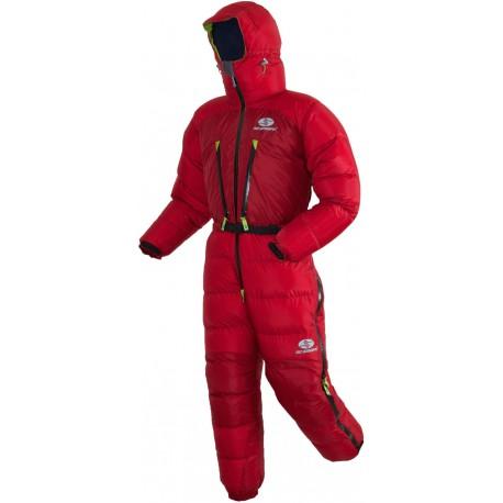 Sir Joseph Wind Face červená unisex expediční péřová kombinéza Exel Dry Light 100