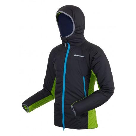 Sir Joseph Fjord černá/zelená pánská zimní bunda Primaloft Sport