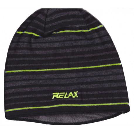 Relax Strip RKH62B unisex pletená čepice Merino vlna/Polycolon