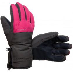 Relax RR07D šedá/růžová dětské lyžařské rukavice