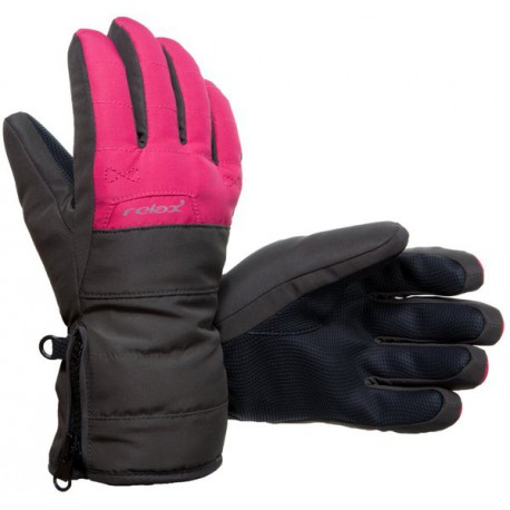 Relax RR07D crow dětské lyžařské rukavice