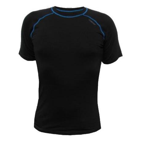 Jitex BoCo Ibiz 902 TSS černá/modrá pánské triko krátký rukáv Merino vlna