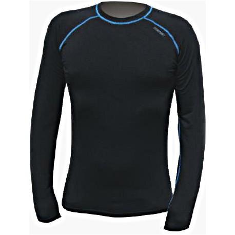 Jitex BoCo Ibak 902 TSS černá/modrá pánské triko dlouhý rukáv Merino vlna