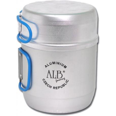 VAR (ALB Forming) Nádobí pro 1 osobu hliníkové dvoudílné