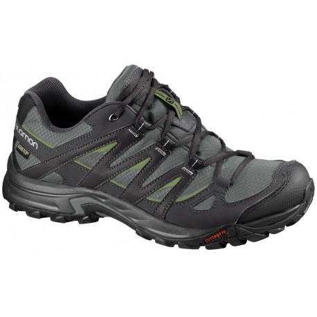 Salomon Eskape GTX titanium/dark turf green 369003 pánské nízké nepromokavé  boty