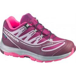 Salomon XA Pro 2 WP K mystic purple/bordeaux 366705 dětské nízké nepromokavé boty
