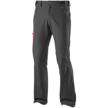 Salomon Wayfarer Pant M black/victory red 371103 pánské lehké softshellové kalhoty