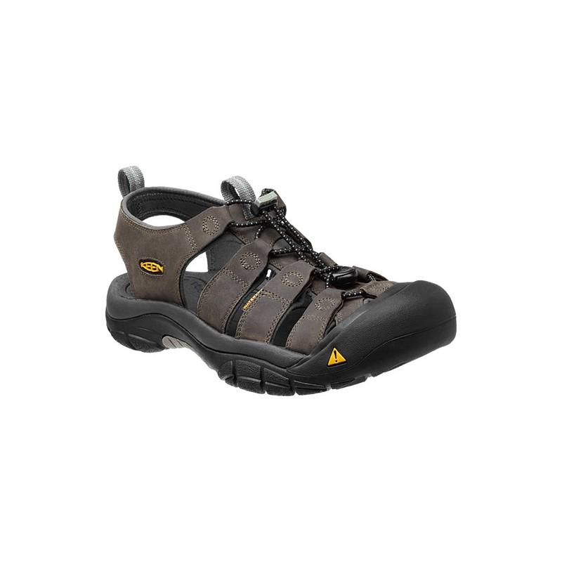 Keen Newport M neutral gray gargoyle pánské kožené outdoorové sandály (1)  ... f97f4fdbc9