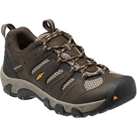Keen Koven Low M black olive/amber green pánské nízké kožené boty