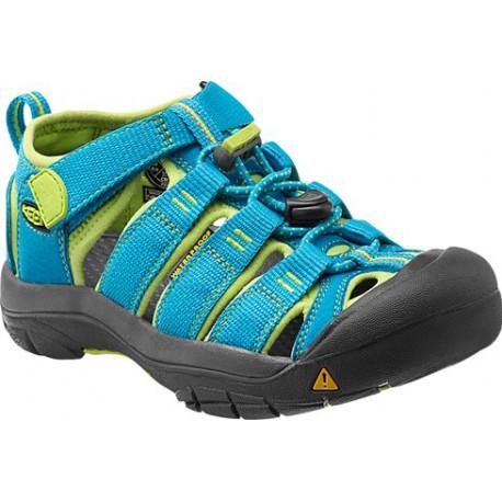 Keen Newport H2 K hawaiian blue/green glow dětské outdoorové sandály i do vody (1)