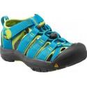 Keen Newport H2 K hawaiian blue/green glow dětské outdoorové sandály i do vody