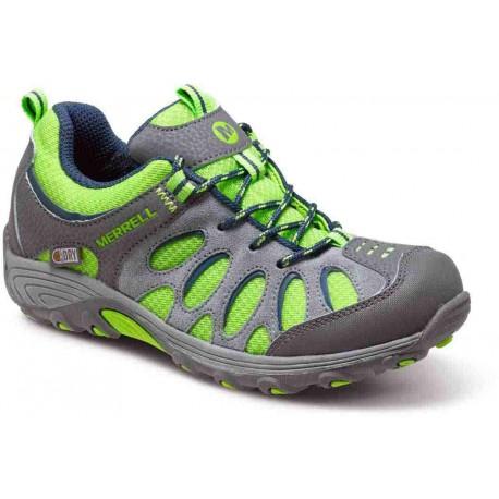 Merrell Chameleon Low Lace WTPF Kids grey/green 52377 dětské nízké nepromokavé boty