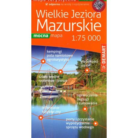 DEMART Wielkie Jeziora Mazurskie/Velká Mazurská jezera 1:75 000 turistická mapa lamino
