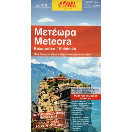 ORAMA 413 Meteora, Kalabaka/Kalambaka panoramatická mapa