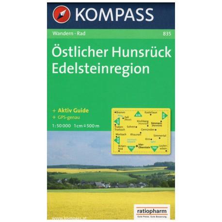 Kompass 835 Östlicher Hunsrück, Edelsteinregion 1:50 000 turistická mapa