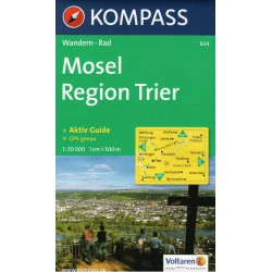 Kompass 834 Mosel, Region Trier 1:50 000 turistická mapa