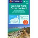 Kompass 2250 Korsika sever 1:50 000 turistická mapa