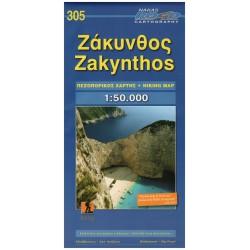 ORAMA 305 Zakynthos 1:50 000 turistická mapa