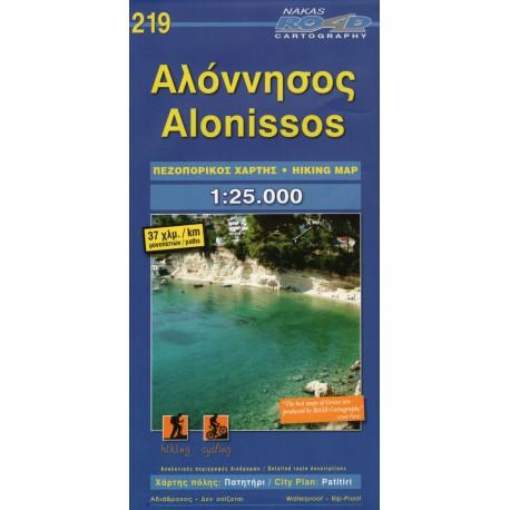 ORAMA 219 Alonissos 1:25 000 turistická mapa