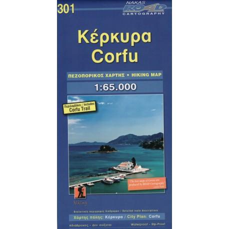 ORAMA 301 Corfu/Korfu 1:65 000 turistická mapa