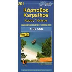 ORAMA 201 Karpathos, Kassos 1:60 000 turistická mapa
