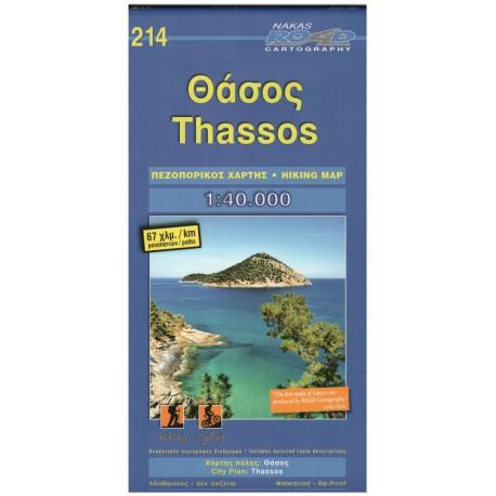 ORAMA 214 Thassos 1:40 000 turistická mapa