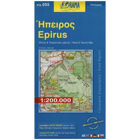 ORAMA 055 Epirus 1:200 000 automapa