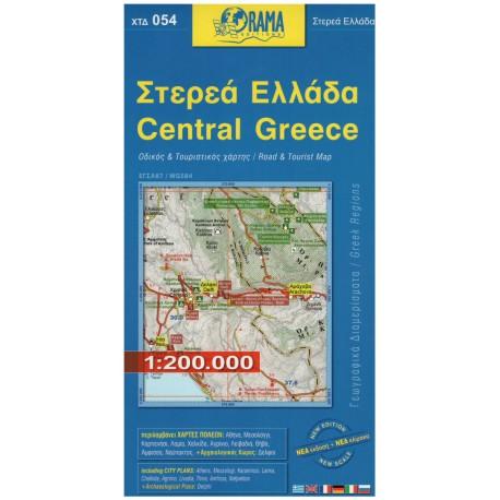 ORAMA 054 Central Greece/Střední Řecko 1:200 000 automapa