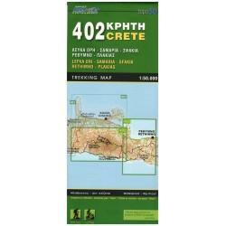 ORAMA 402 Kréta Lefka Ori, Samaria, Sfakia, Rethimno, Plakias 1:50 000 turistická mapa