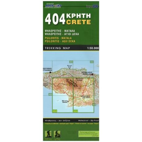 ORAMA 404 Kréta Psiloritis, Matala, Agii Deka 1:50 000 turistická mapa
