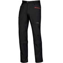 Direct Alpine Borneo 4.0 black/red pánské odepínací turistické kalhoty