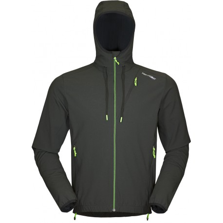 High Point Venus Hoody Jacket black graphite pánská softshellová bunda Softshell Double Ac