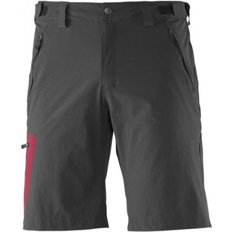 Salomon Wayfarer Short M black/victory red 371120 pánské lehké softshellové šortky