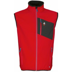 High Point Venus Vest red pánská softshellová vesta Softshell Double Action