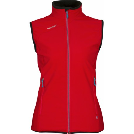 High Point Venus Lady Vest red dámská softshellová vesta Softshell Double Action