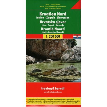 Freytag a Berndt Chorvatsko sever, Istrie, Záhřeb, Slavonie 1:200 000 automapa