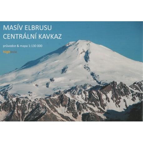 Highasia Centrální Kavkaz, Masív Elbrusu 1:130 000 turistická mapa