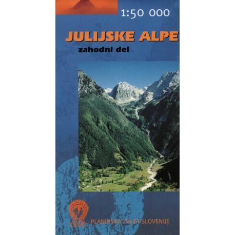 Geodetski Julské Alpy západ 1:50 000 turistická mapa