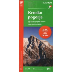 Geodetski Krnsko pogorje 1:25 000 turistická mapa 1:25 000 turistická mapa