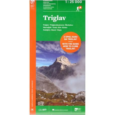 Geodetski Triglav 1:25 000 turistická mapa
