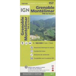 IGN 157 Grenoble, Montélimar 1:100 000 turistická mapa