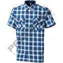 Progress Pulse modrá pánská košile krátký rukáv bambus