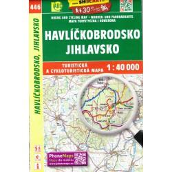 SHOCart 446 Havlíčkobrodsko, Jihlavsko 1:40 000 turistická mapa