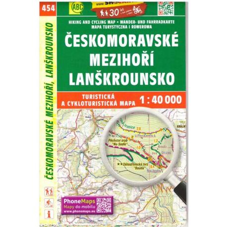 SHOCart 454 Českomoravské mezihoří, Lanškrounsko 1:40 000
