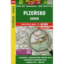 SHOCart 414 Plzeňsko sever 1:40 000