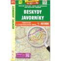 SHOCart 471 Beskydy, Javorníky 1:40 000 turistická mapa