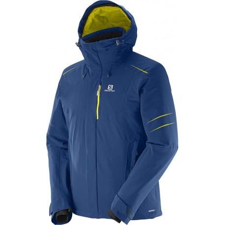 Salomon Icestorm Jacket M midnight blue 375269 pánská nepromokavá zimní lyžařská bunda