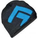 Direct Alpine Kameny anthracite/blue pánská pletená čepice Merino vlna