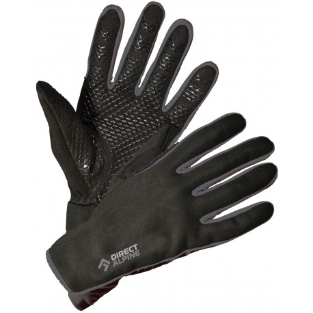 Direct Alpine Skisport black/grey unisex softshellové rukavice