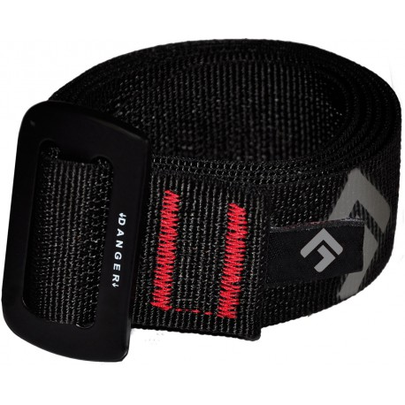 Direct Alpine Belt black logo opasek